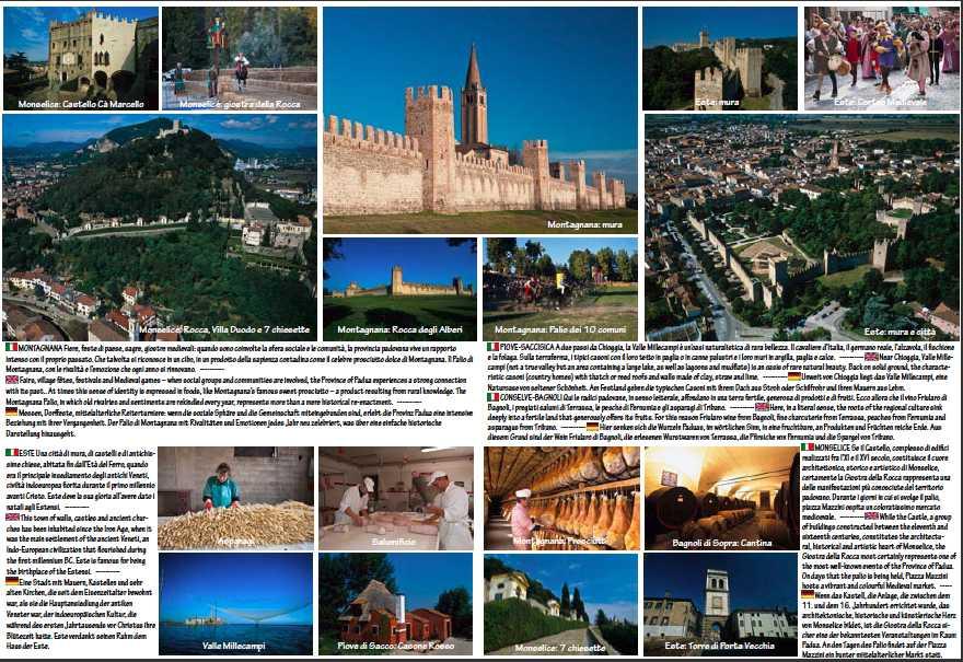 foto aeree e da terra di Monselice, Este, Montagnana, Conselvano e Piovese