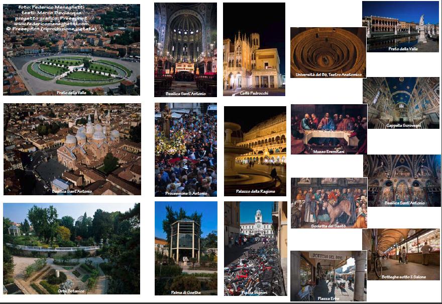 Padova, foto aeree e da terra