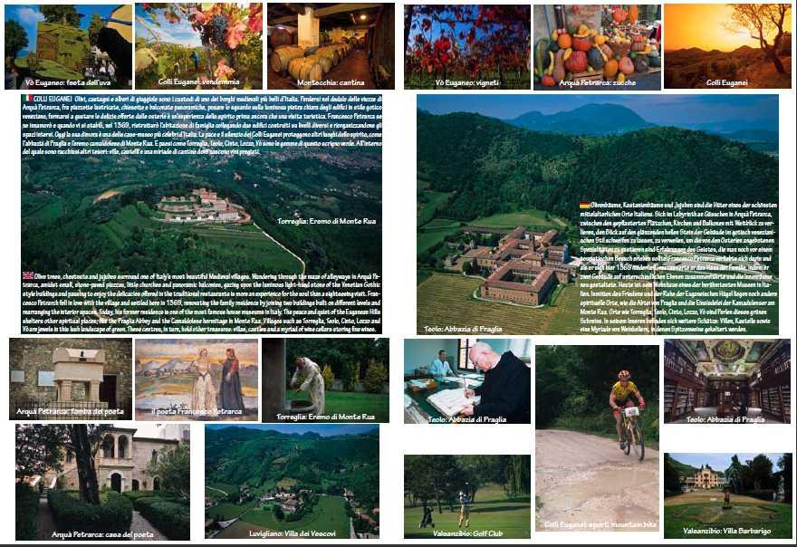 foto aeree e da terra dei Colli Euganei