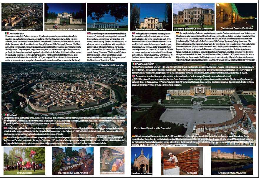 foto aeree e da terra di Cittadella, Camposampiero, Piazzola e alta padovana