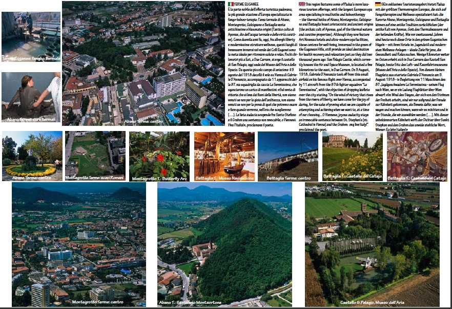 foto aeree e da terra di Abano Terme e Terme Euganee